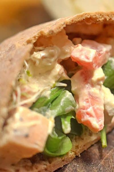chicken pita sandwich recipe from platter talk food blog
