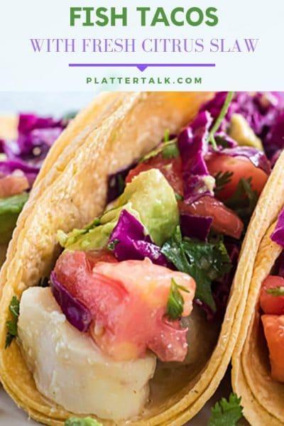 Fish taco in a tortilla