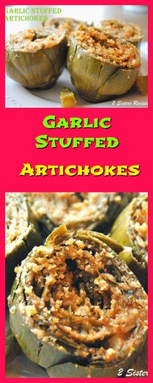 Garlic Stuffed Artichokes Recipe