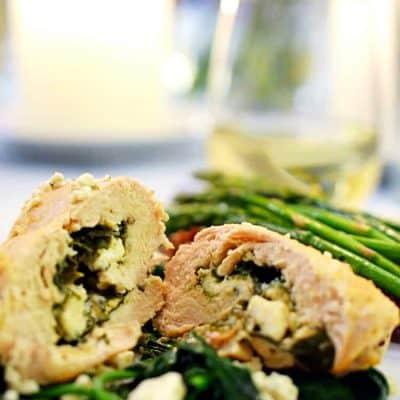 Spinach and Feta Chicken Rollups