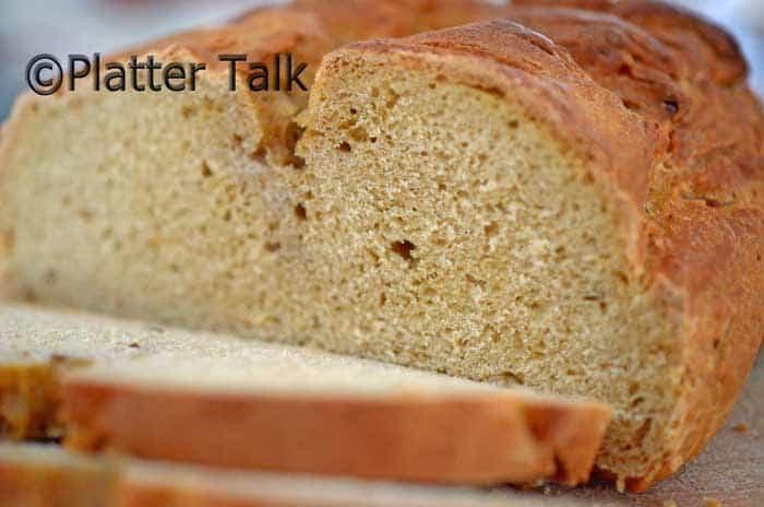 slices of Swedish limpa bread.