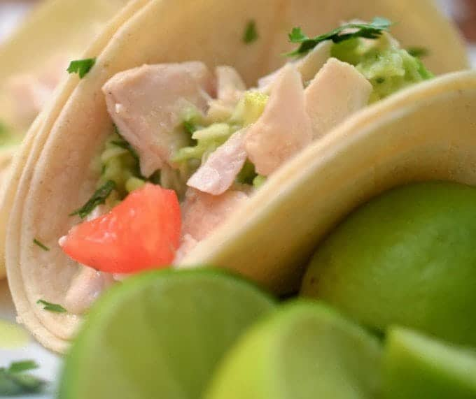 Fish tacos with cabbage citrus slaw platter talk for Grilled fish taco recipe with cabbage slaw