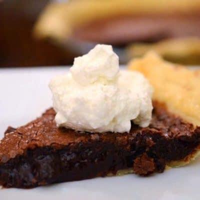 Brandy Infused Chocolate Cherry Pie with Roasted Hazelnuts