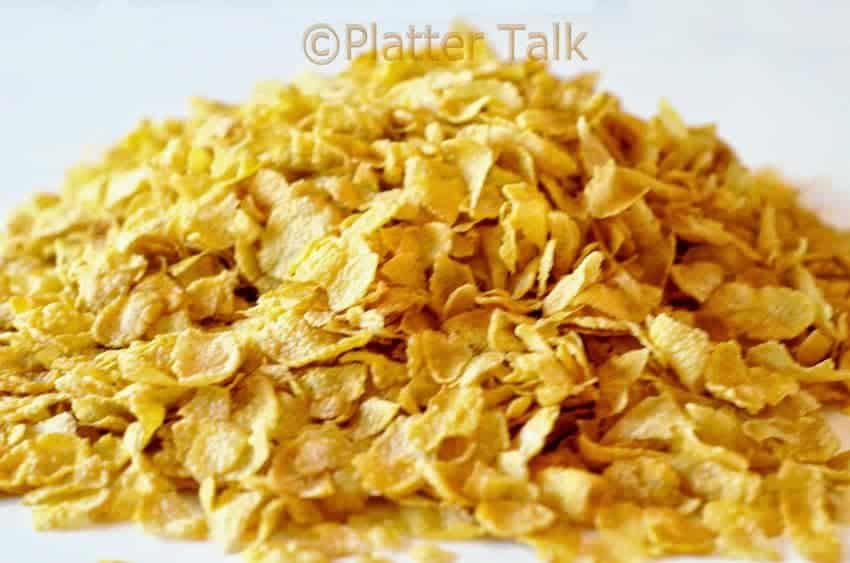 A pile of cornflakes.