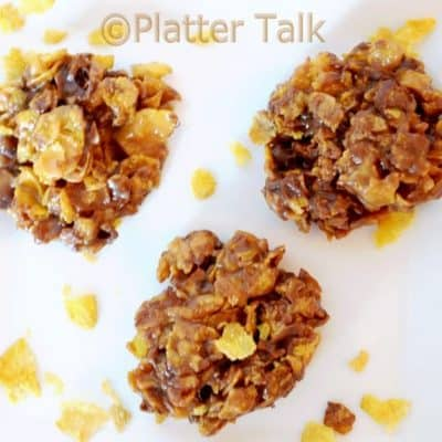 Peanut Butter and Chocolate Cornflake Cookies