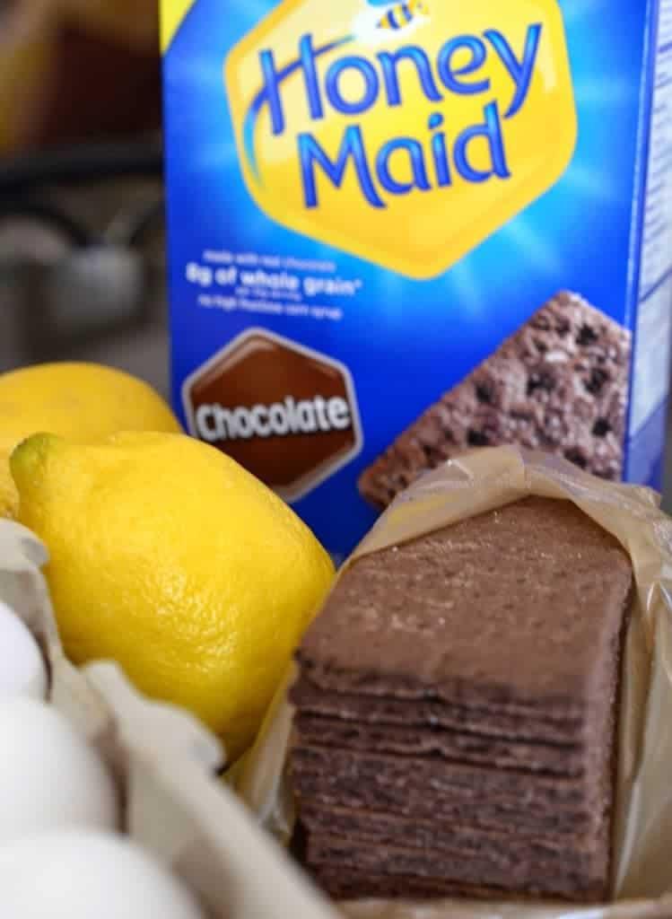 Honey Maid chocolate graham crackers and lemons