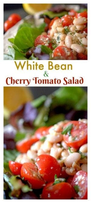 white bean and cherry tomato salad