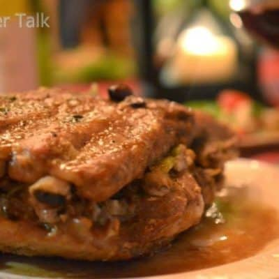 Baked Spareribs with Apple-Celery Stuffing