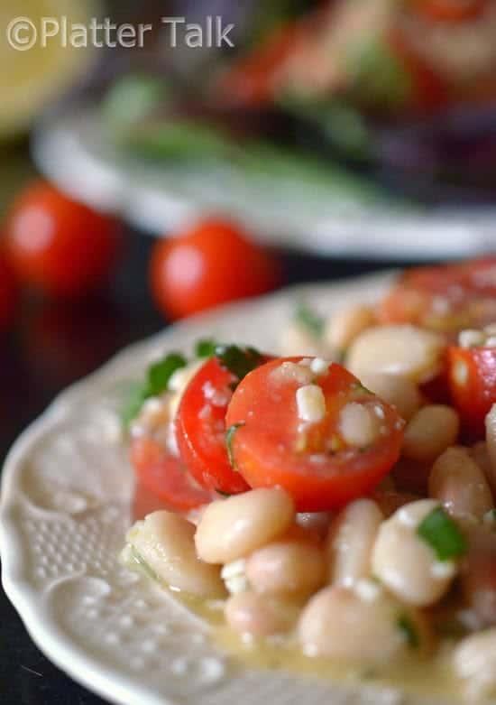 white bean salad and cherry tomato salad recipe
