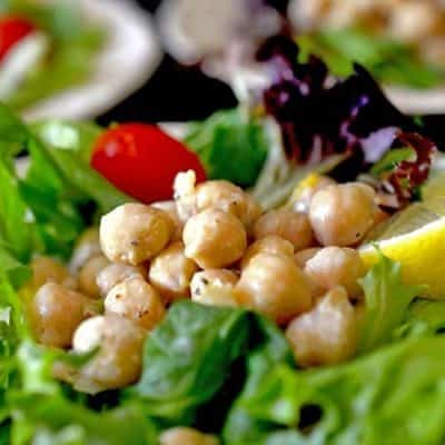 Be sure and try this garbonzo bean salad today, it's a great alternative to traditional hummus.