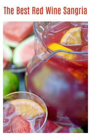 This red wine sangria recipe from Platter Talk is inspired by a former neighbor and gourmet chef who grew up south of the border. Use your favorite summer stone fruit to mix with this red sangria and celebrate summer all year long!