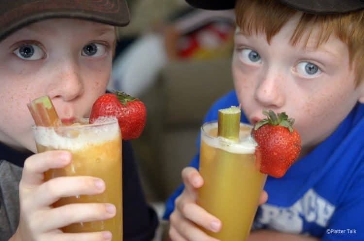 Kids love rhubarb slush