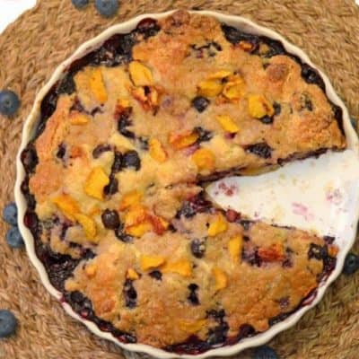 Blueberry Buckle with Peach Yogurt Streusel