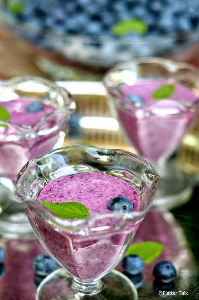 Chilled Blueberry Soup Recipe from Platter Talk