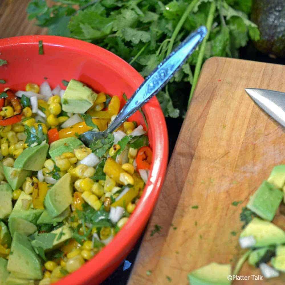 Summer salsa in a bowl.