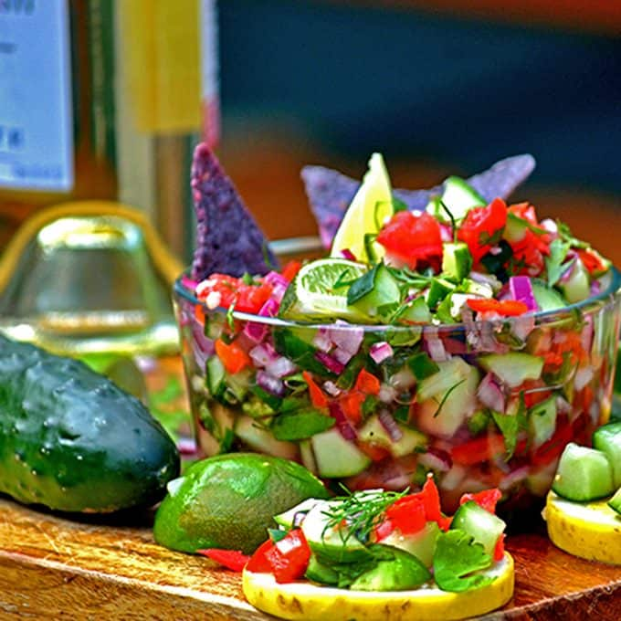 Fresh Cucmber Salsa is a great way to enjoy summer, on the skinny!