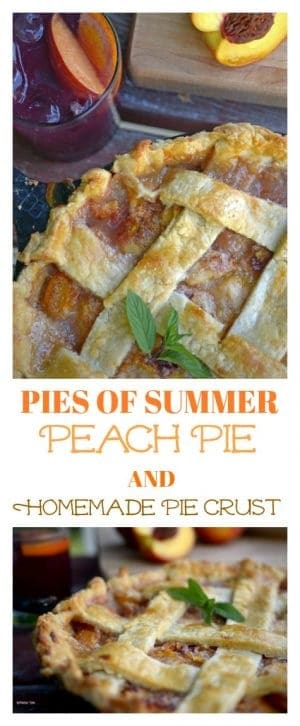 Peach Pie with Homemade Pie Crust is a simple and delicious way to celebrate summer.