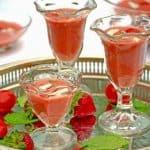 Tomato, Strawberry, & Basil Gazpacho