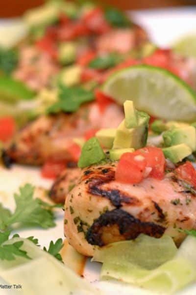 grilled chicken with avocadco salsa from platter talk