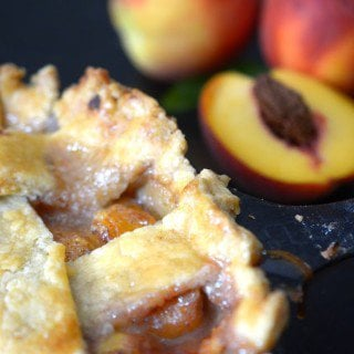 peach pie with homemade crust from platter talk