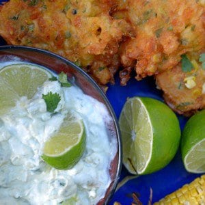 Corn Friiters amp Avocado Jalapeo Sauce food delicious yum cornhellip