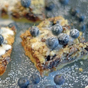 Blueberry Chocolate Streusel Bars dessert plattertalk delicuois blueberries yummy food
