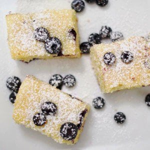 Blueberry Vanilla Pudding Blondies dessert food bars yum brownie summerhellip