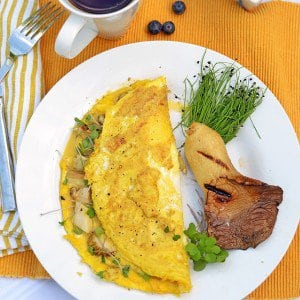 Mushroom Omelette with Microgreens summer food breakfast eggs healthy yumhellip