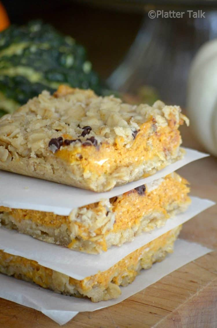 Cream cheese and pumpkin bars