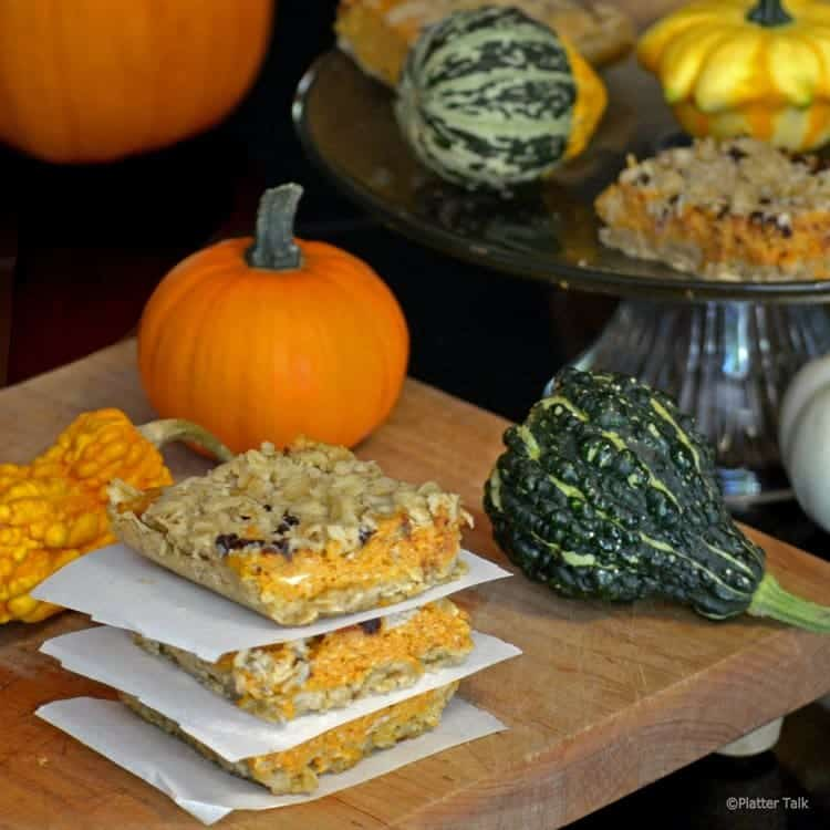 Cream cheese pumkin bars