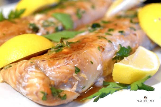 Healthy Haddock Recipe on Platter Talk. Baked Haddock Fillets with an Asian flair.