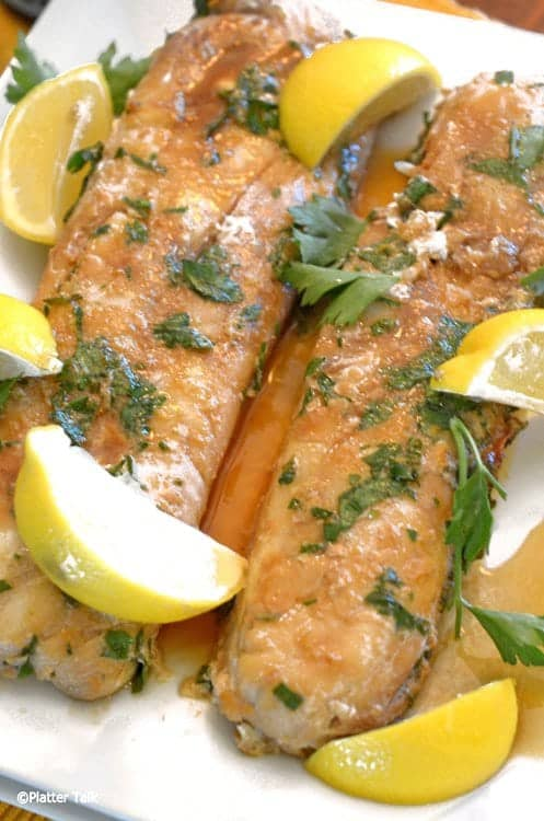 Ginger Soy Baked Haddock Fillets from Platter Talk is a healthy haddock recipe.