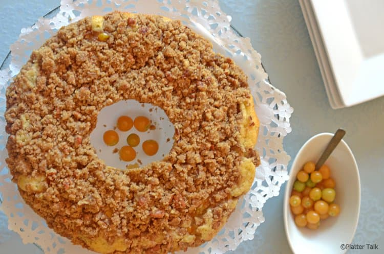 Ground Cherry Coffee Cake