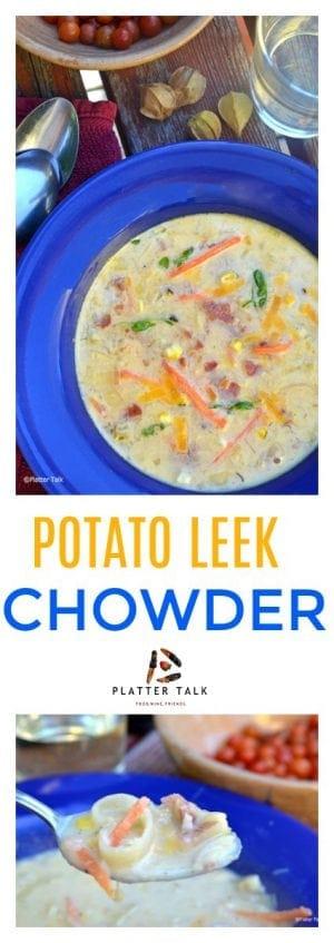 Potato leek chowder.
