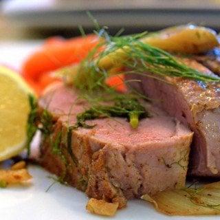 Roast Pork tenderloin and fennel