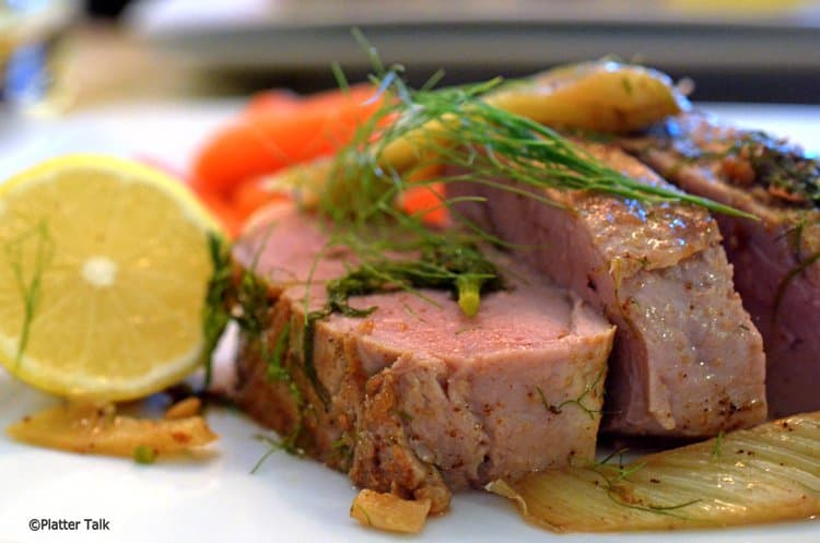 Roast fennel Pork tenderloin is a dinner recipe can be made in under 30 minutes.