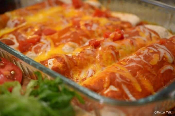 Steak Enchiladas are a good way to use leftovers.