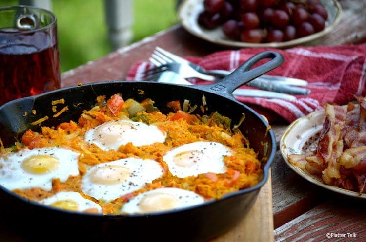 Sweet Potato and Eggs Skillet - Platter Talk
