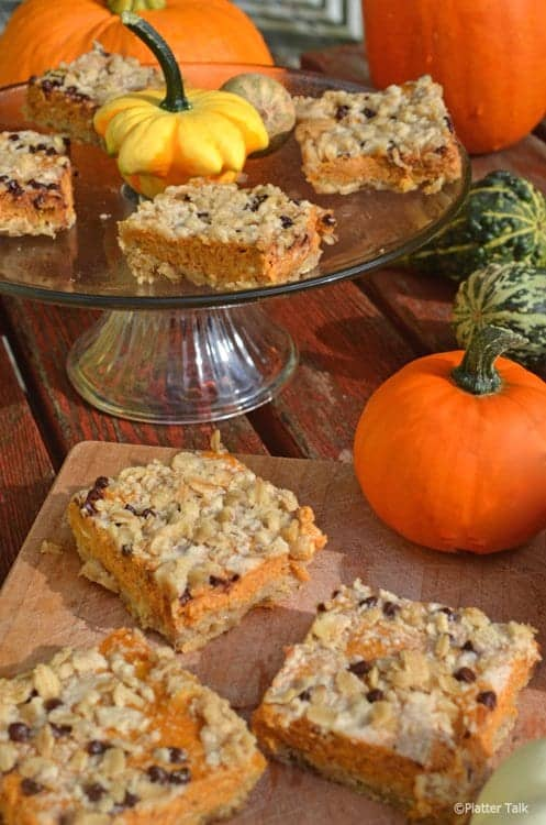 cream cheese pumpkin bars from platter talk