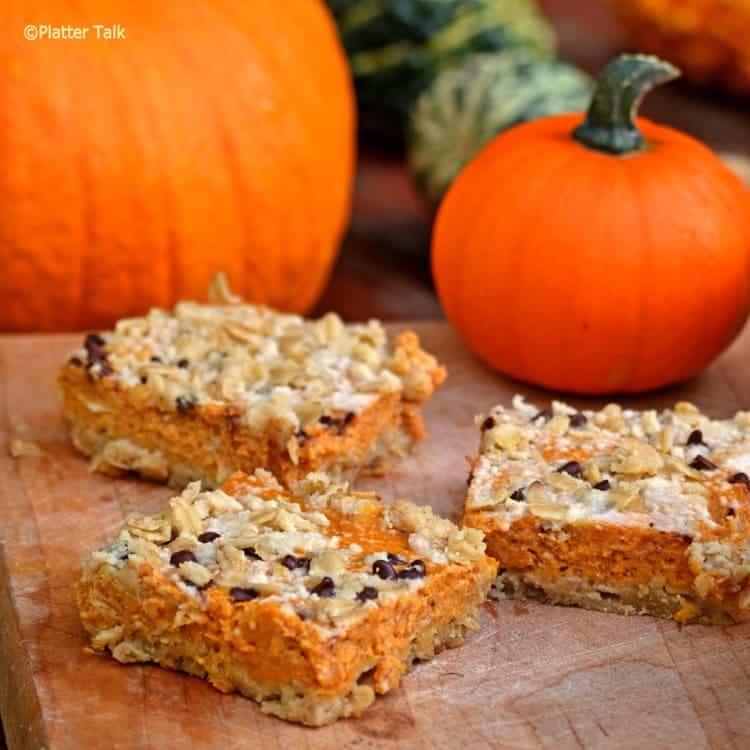 Cream Cheese Pumpkin Bars featured at Saturday Night Fever on Belle of the Kitchen