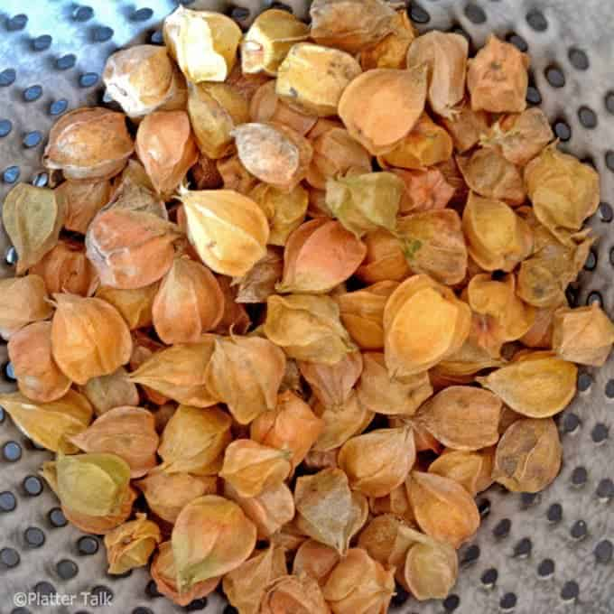 ground cherries on platter talk