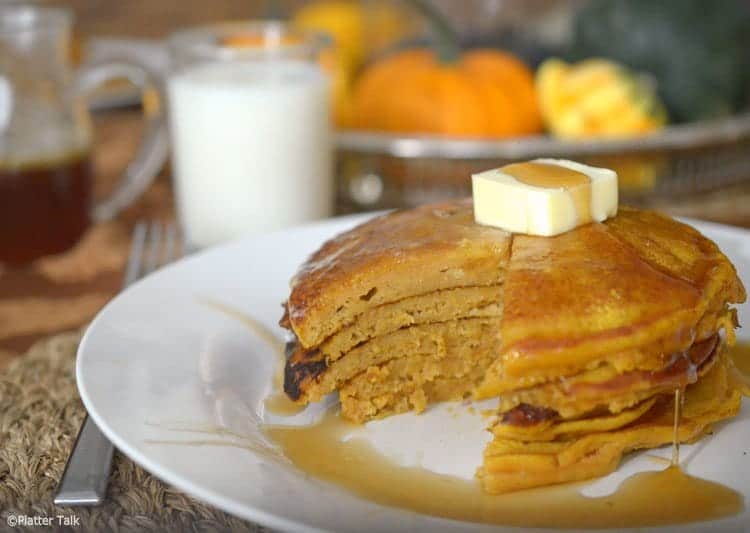 pumpkin pancakes from platter talk