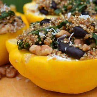 Quinoa and Kale Stuffed Starburst Squash