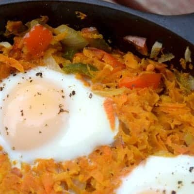 Sweet Potato and Eggs Skillet
