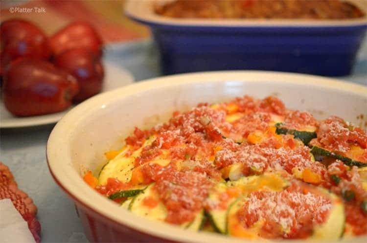 zucchini cheese and salsa