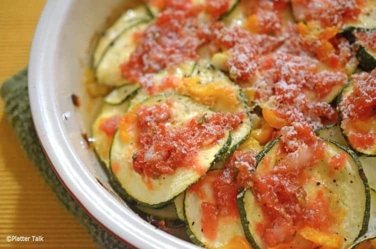 Zucchini Cheese and Paremsan Bake