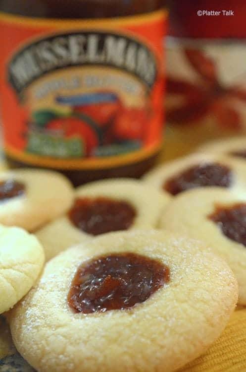 Apple Butter Tea Cookies on platter talk