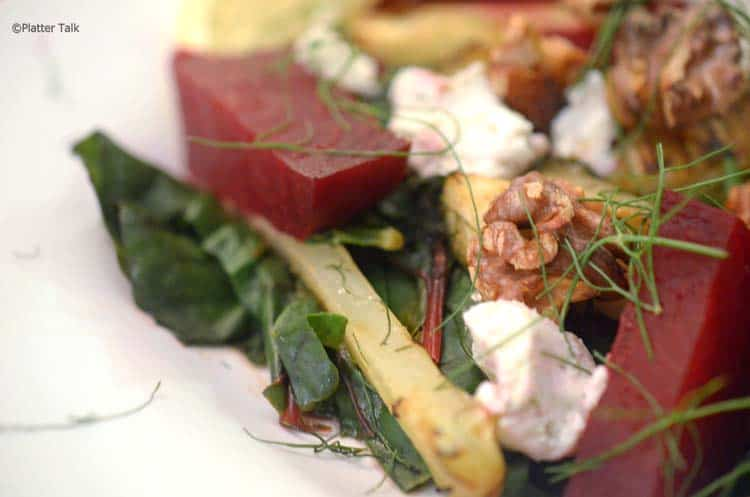 A plate of salad, with Fennel