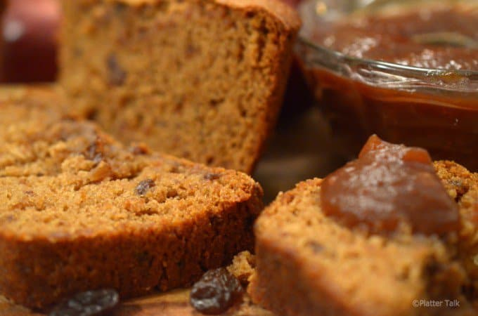 Raisin Apple Butter Bread