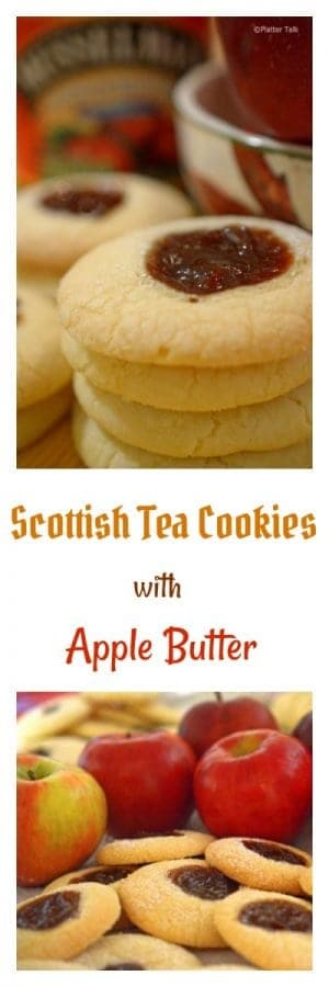 These Scottish Tea Cookies with Apple Butter are an easy and festive way to celebrate the beauty of autumn flavors.